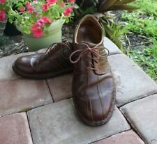 Josef Seibel Men's Brown Leather Lace Up Bicycle Toe Shoes EURO Size 45