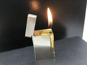 """ST S.T. Dupont Ligne D Pipe Lighter Silver Kinetic Lines """"Art Cinetique"""" 17227"""