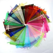 100 PCS Mixed color Organza Wedding  Party Candy Bags Jewellery pouches 10*15cm