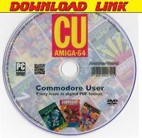 COMMODORE USER Magazine Full Collection PDF DOWNLOAD C64 DISK/AMIGA/C16 Games CU