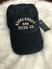 Abercrombie & Fitch Mens Adjustable Logo Baseball Cap Hat One Size Blue