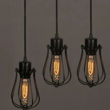 Vintage Edison Wire Cage Hanging Lamp Shade Pendant Light Chandelier