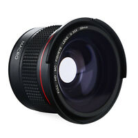 58MM 0.35X Super Fisheye Wide Angle Lens Macro for Canon Rebel T6i T5i T3i T2i