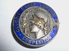 1908 Olympic Games London COMPETITOR Badge ORIGINAL!!! VERY RARE!!!!!