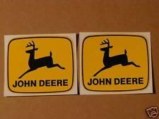 2 JOHN DEERE 3 inch 2-legged Black Deer DECALS Tractor Computer Cut   J1998