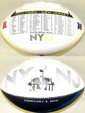 Road to the Super Bowl 48 XLVIII Rawlings Fotoball Full Size NFL NY NJ Football