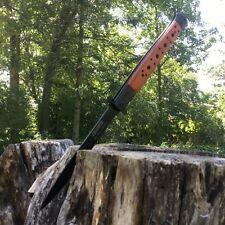 "TAC FORCE 13"" Extra Large Spring Assisted Open BROWN PAKKAWOOD Pocket Knife"