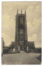 Devon; Cullompton Church Tower PPC, 1916 Local PMK by Local Maker, EA Lawrence