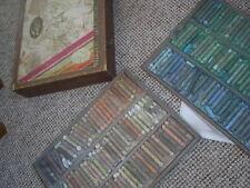 wooden boxed set vintage Rembrandt Talens artist pastels huge range of colours