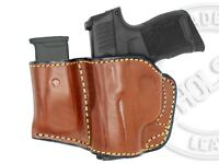 Holster & Mag Pouch Combo OWB Leather Fits Smith & Wesson M&P .40 COMPACT