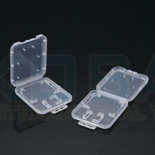 10x transparent Memory Card Holder Case Box Storage For Standard SD SDHC+TF Card