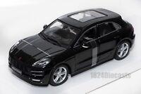 Porsche Macan Black, Bburago 21077, Scale 1:24, car gift toy kids boy