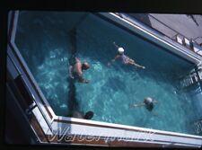 1963 kodachrome photo slide   MS Kungsholm SAL ship swiming pool Bathing Cap