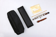 Yinfente Piccolo Rose Wood Body & Head Silver Plated Keys free Leather Case #A3