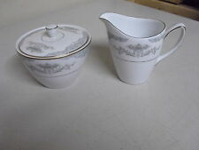 MIKASA MINUET CREAMER + SUGAR BOWL WITH LID