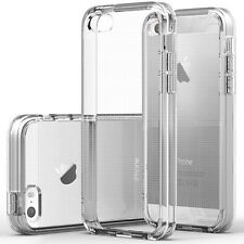 For iPhone 5/ 5s SE Case Ultra Slim Thin Clear TPU Silicon Soft Back Cover +Film