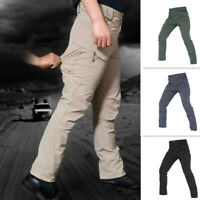 Mens Tactical Pants Army Combat Lightweight Quick Drying Waterproof Cargo Casual