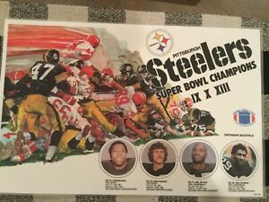 Pittsburgh Steelers Super Bowl Champions Place Mat. Rare/Excellent Condition