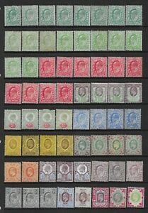 Collection of mounted MINT Edward VII stamps.