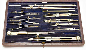 Boxed vintage technical drawing instruments set