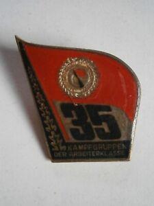 DDR - Anstecknadel - 35 Jahre Kampfgruppen der Arbeiterklasse - emailliert