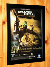 Tom Clancy's Splinter Cell Pandora Tomorrow Small Poster Old Ad Page Framed PS2