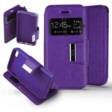 Coque Housse Etui Apple iPhone 5 / 5S Folio fenêtre  View - Violet