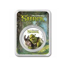NIUE 2 Dollars Argent 1 Once  20è Anniversaire Shrek Colorisée 2021 sous Blister
