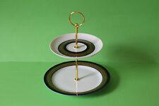 zauberhafte zweistöckige Etagere Teller Thomas Porzellan Rotunda Goldbordüre