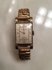 Vintage LeCoultre Swiss 10k Gold Filled Watch Wick Jaeger Parts As Is Wadsworth