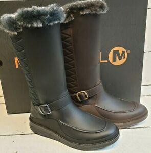 Ladies Merrell Tremblant Ezra Tall  Ice Plus Leather & Fabric WP Mid Calf Boots