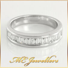 Ladies Baguette Diamond Ring with Valuation 18ct, 18k, 18kt, Sz N, 4.9G, 3.6mm
