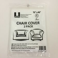 "Uboxes Moving Storage 2 Pk Chair Covers Waterproof Heavy Duty 2.0 mil 76"" x 46"""