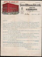 1903 St Paul Mn - Farwell Ozmun Kirk & Co  Harness Saddlery Saddles Letter Head