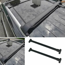 Fit For Jeep Cherokee 14-20 Black Steel Top Roof Rack Luggage Carrier Rail 2PCS