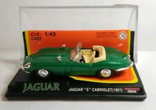 """NEW RAY 1:43 SCALE DIECAST JAGUAR """"E"""" CABRIOLET 1961 - 48839 - CASED WITH STAND"""