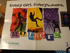 Girl Scouts 2001 Cookie Double Poster & Magnet Every Girl. Everywhere. Go There
