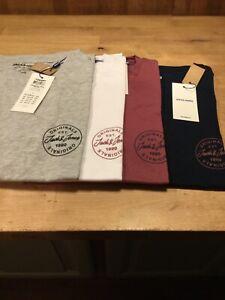 Jack & Jones More T Shirt Reg. Fit 4 Colours (S-XXL) Small Logo