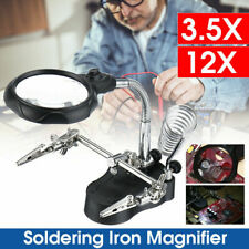 Aromzen LED Magnifying Glass Soldering Iron Stand
