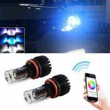 RGB H8 H9 H11 LED Headlight Bulbs Kit Driving Lights DRL Bluetooth APP Control