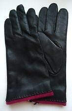 Ladies Fifth Ave. Genuine Leather Gloves,Black, Large