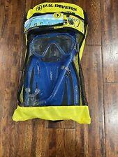 New listing US Divers Explore Adult Caspian Snorkeling Set, Blue, S/M Fins, Mask, Snorkel