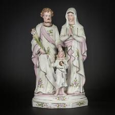 "Holy Family Statue | Virgin Mary St Joseph Jesus Figure | Antique Porcelain 12"""