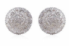 1.10 Cts Round Brilliant Cut Natural Diamonds Stud Earrings In Fine 14Karat Gold