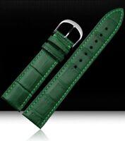 Cinturino In Pelle Universale Ricambio Per Orologio Larghezza 20mm Verde lac