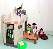Playmobil LOT 5727 Pirate Dungeon Prison Dock 5 Pirates Pelican Rowboats Cannon