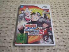 Naruto Shippuden Clash of Ninja Revolution III 3 für Nintendo Wii und Wii U OVP