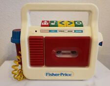 Vintage Fisher Price Tape Cassette Recorder & Player 1990 Model 3818 Works
