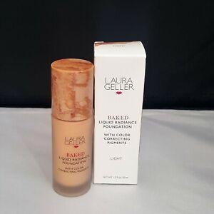Laura Geller 1oz Baked Liquid Radiance Foundation -LIGHT NWB