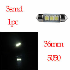 1x 36mm 5050 3SMD LED Car Dome Map License Plate Light Bulb White for Honda BMW